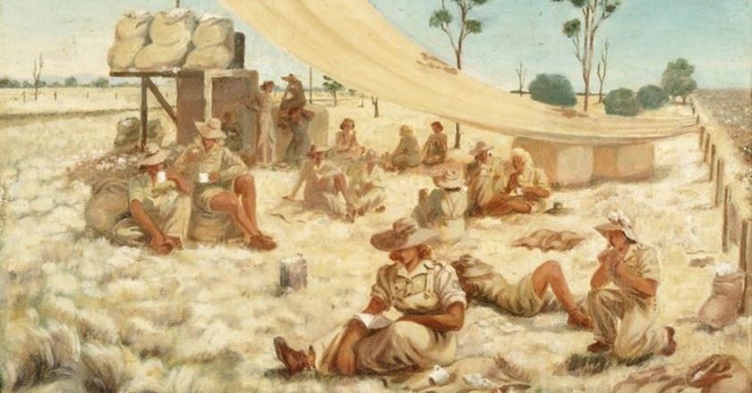 "A painting titled ""Smoko Time With the AWLA"" 
