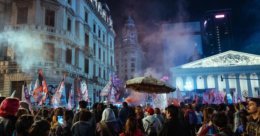 The third annual #NiUnaMenos march | © Rose Palmer
