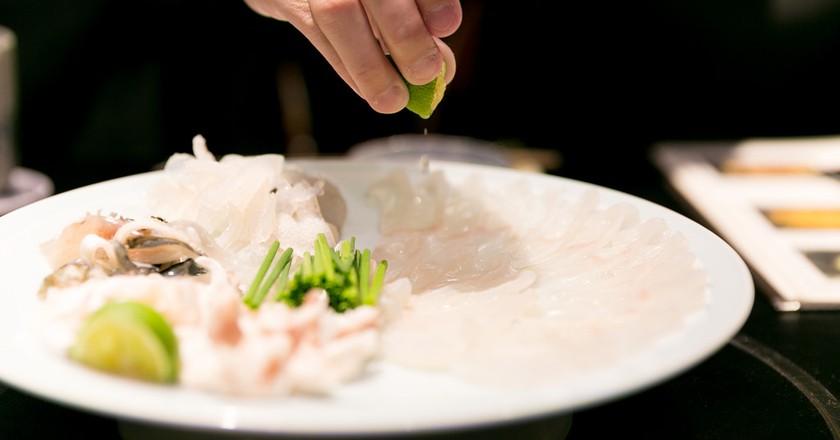 Fugu sashimi | © City Foodsters/Flickr