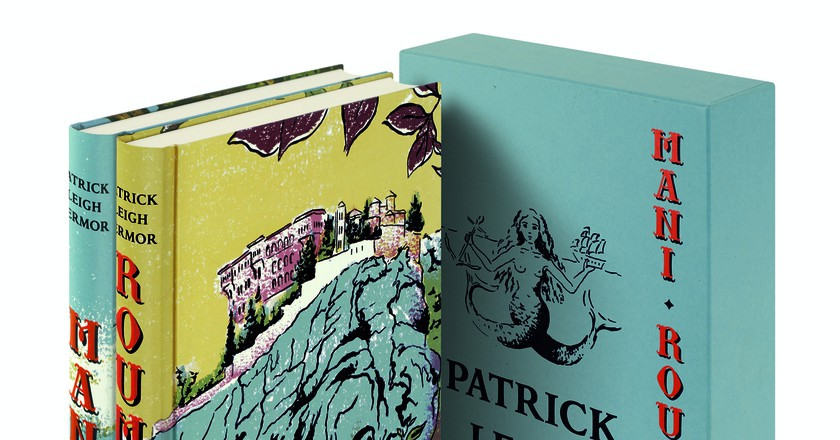 The Folio Society's new editions of Mani and Roumeli, written by Patrick Leigh Fermor, and illustrated by Katyuli Lloyd   Courtesy of The Folio Society