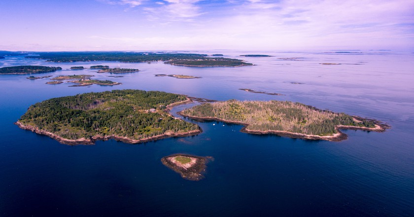 McGee Island, aerial view | Courtesy of Airbnb hosts Michael and Elizabeth