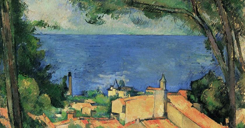 Cézanne's painting of L'Estaque just outside Marseille   © Public domain/WikiCommons