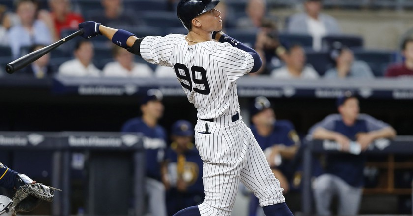 New York Yankees right fielder Aaron Judge   © AP/Rex/Shutterstock