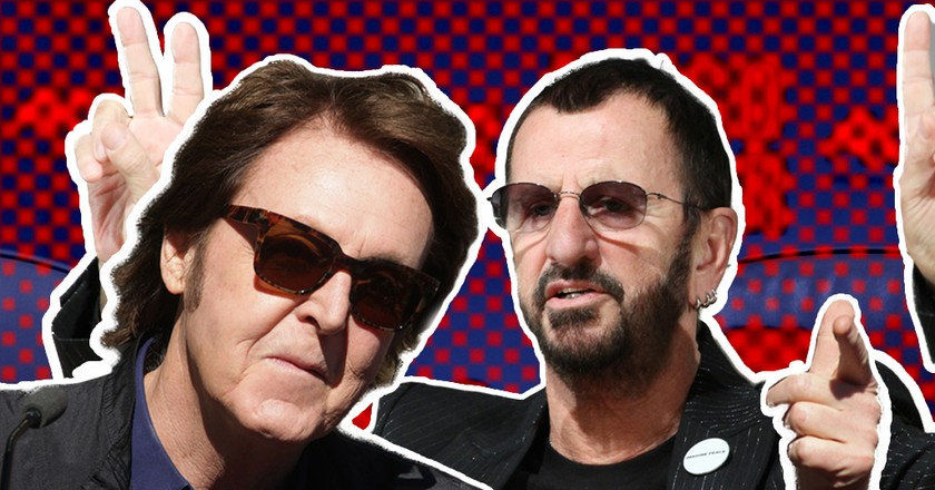 Paul McCartney and Ringo Starr © Graphic- Amanda Suarez | Source- Alexander Mazurkevich/DFree/Shutterstock