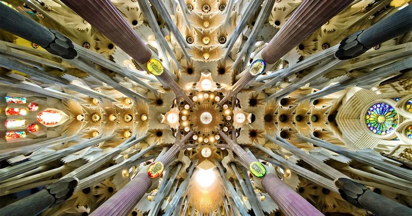 Sagrada Familia nave roof detail | © SBA73/WikiCommons