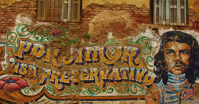 Che Guevara mural in Buenos Aires, Argentina | © traveljunction/Flickr