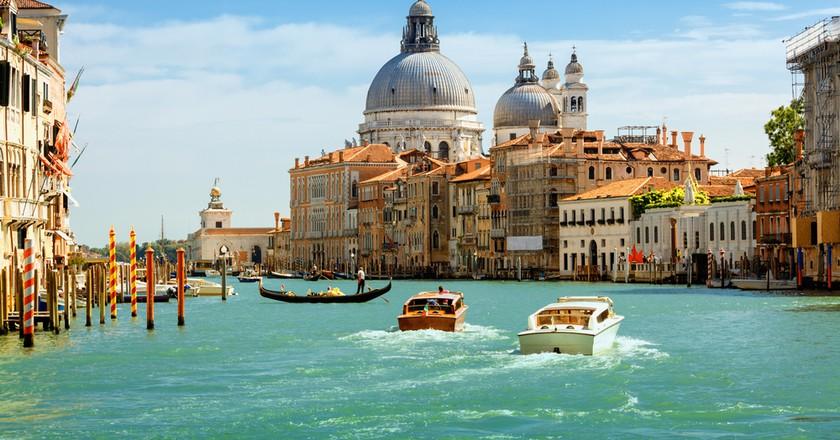 Grand canal and Basilica Santa Maria della Salute, Venice, Italy   © Phant / Shutterstock