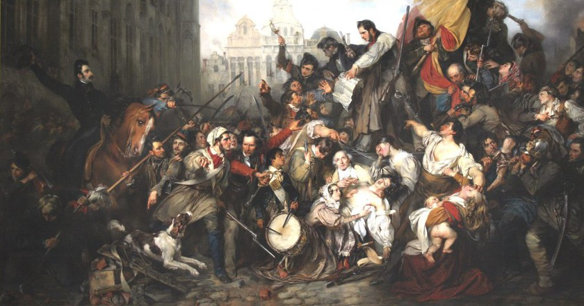 The September Days in the Belgian Revolution, depicted by painter Gustaf Wappers | © Szilas/Wikimedia Commons