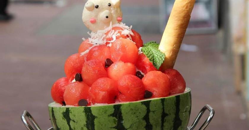 Watermelon Bingsoo   Courtesy of Sweet Moment