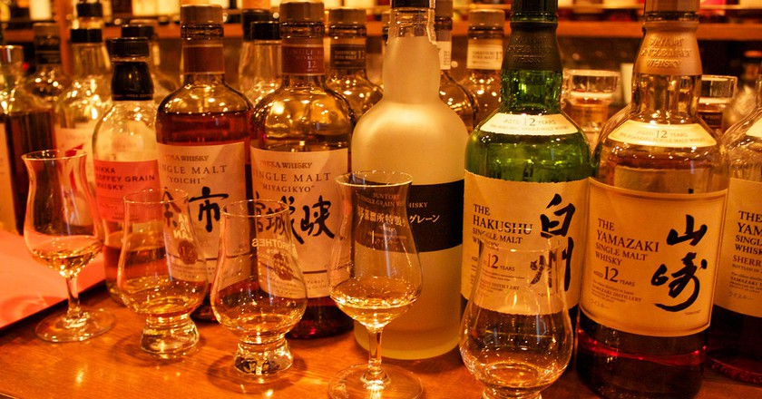 A selection of Japanese whiskeys.