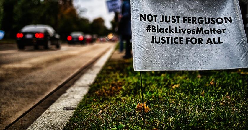 Black Lives Matter sign   © Johnny Silvercloud