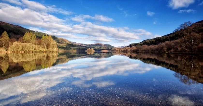 Loch Chon, Trossachs, Scotland In April   © john mcsporran/Flickr