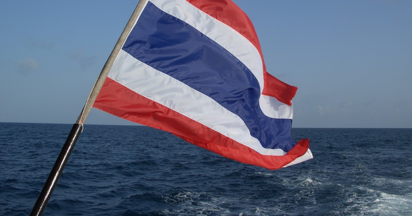 National flag of Thailand | © Andy Wright / Flickr