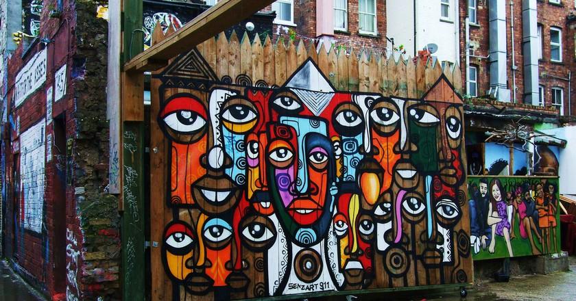Graffiti on Hanbury Street | Photo by Jim Linwood