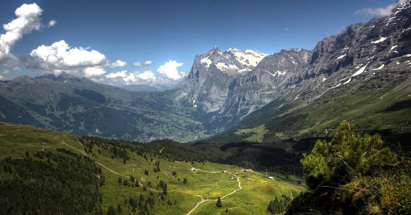 Swiss hiking trails