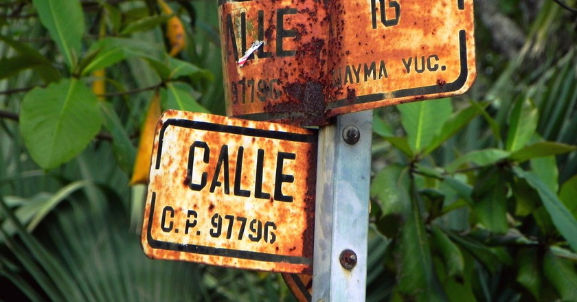 Street sign in Yucatán state | © Marysol/Flickr