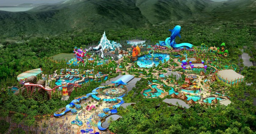 Aerial view of the world's largest ocean theme park | Courtesy of Chimelong Group