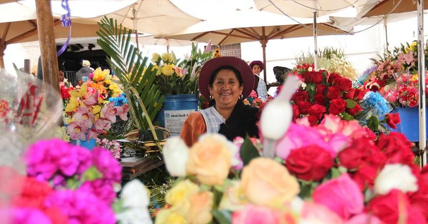 Flower Market, Cuenca | © amalavida.tv/Wikicommons