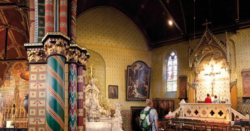 The upper Gothic chapel at Bruges' Basilica of the Holy Blood   © Jan D'Hondt / Courtesy of Visit Bruges