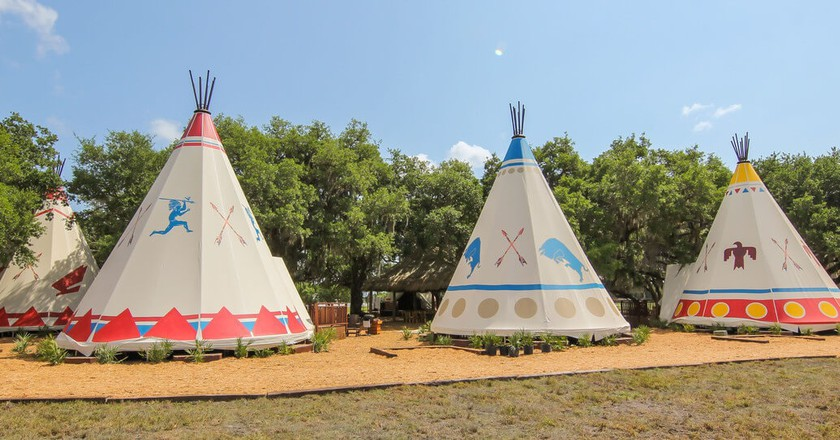 Teepees | Courtesy of Westgate River Ranch Resort & Rodeo