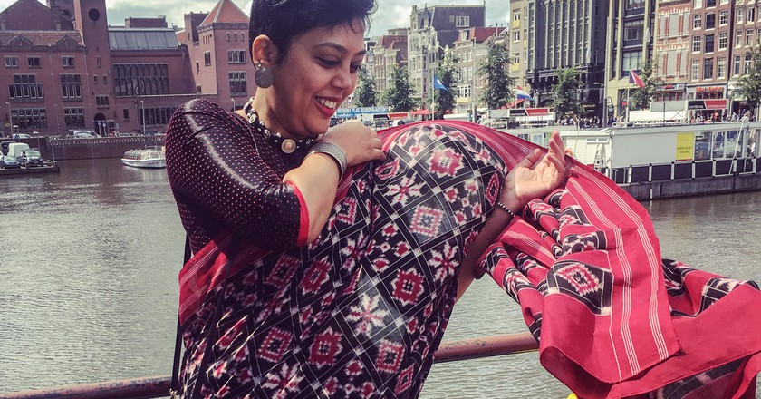 A double ikat sari takes months to weave | © Pooja Jagdeesh