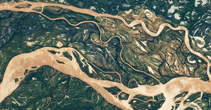 Paraná River floodplain in northern Argentina