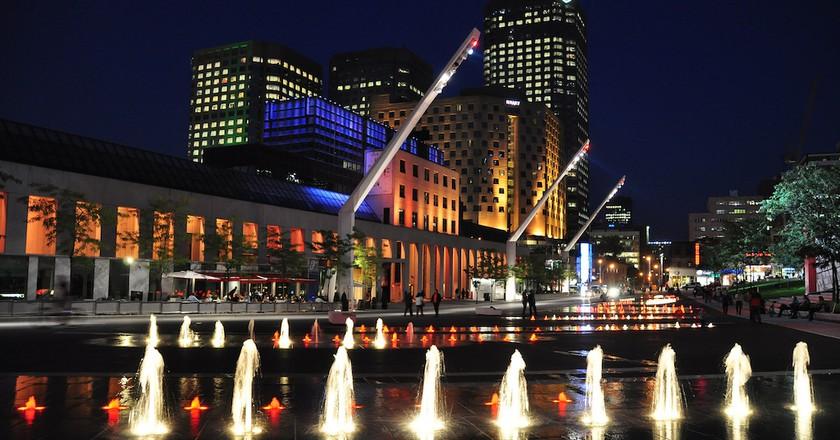 Place des Arts next to the Musée d'art contemporain de Montréal |  © abdallahh / Flickr