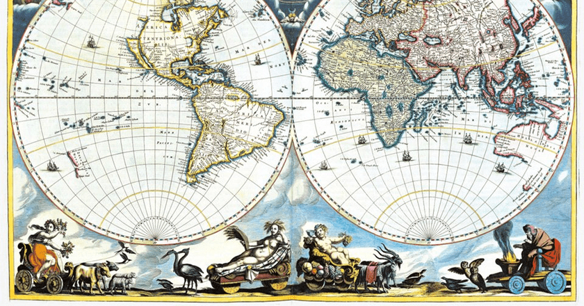 Beautiful Map Of The World.These Beautiful And Controversial Maps Changed The World Forever