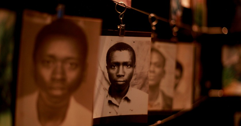 Photographs at the Kigali Genocide Memorial | © Trocaire / Flickr