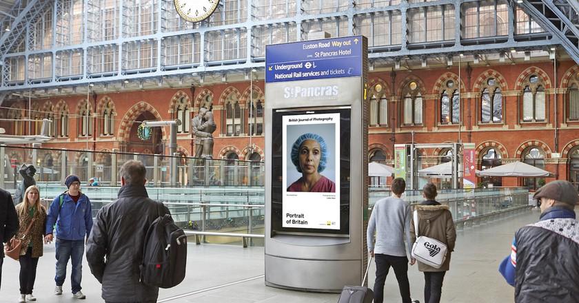 St Pancras Station display | Photo © Lewis Khan