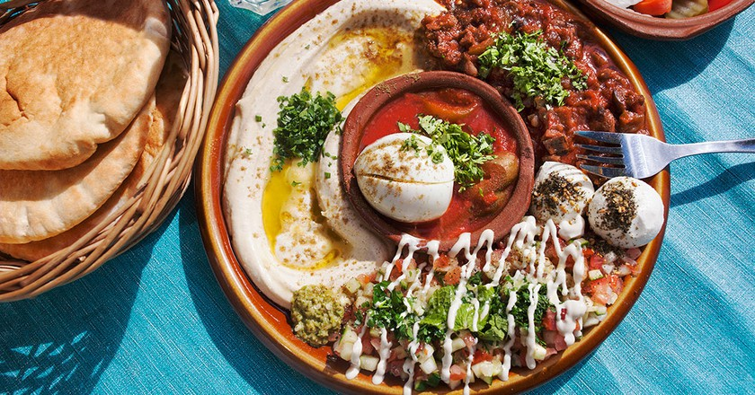 Veggie food in Tangier is a delight to the taste buds | Courtesy of Reggev Hummus