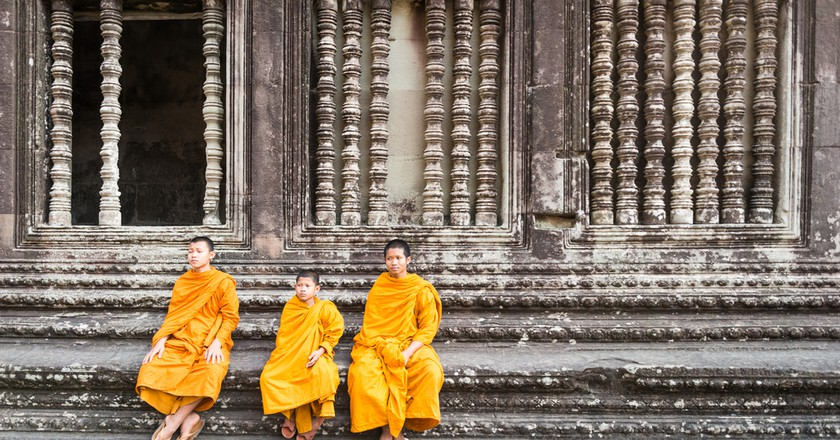 Monks at Angkor Wat in Siem Reap