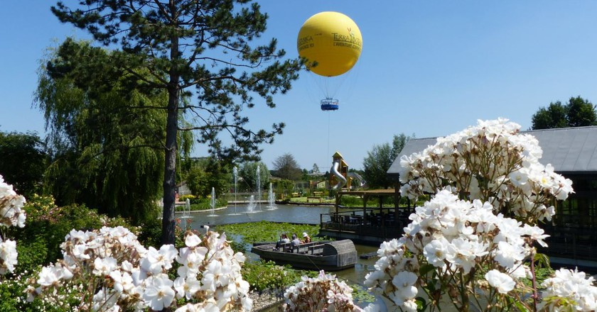 A mini hot air balloon ride is just one of the attractions at France's first botanical theme park, Terra Botanica    © Courtesy of Terra Botanica
