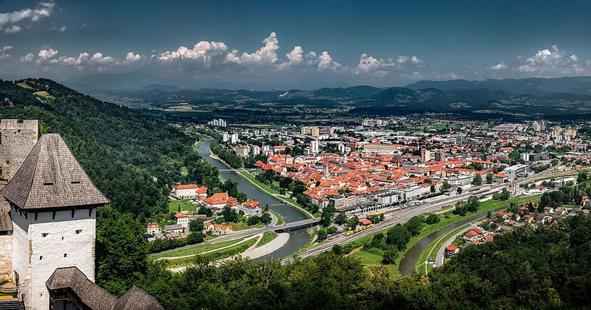 View of Celje from the Celje Castle | © Bernd Thaller/WikiCommons