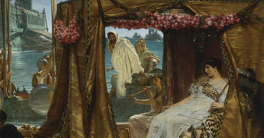 Sir Lawrence Alma-Tadema , The Meeting of Antony and Cleopatra, 1884 | ©   Wikimedia Commons