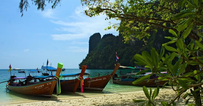 One of Krabi's many gorgeous beaches | ©Nicolas Vollmer/Flickr