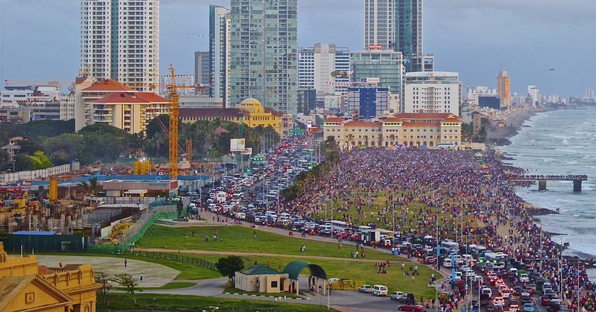 A bird's eye view of the Galle Face Green on a busy day |© Suranga de Wijeratne / Flickr