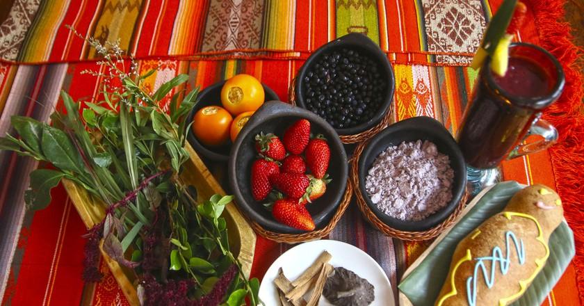 Ingredients for Colada Morada, Ecuador   © Agencia de Noticias ANDES / Flickr