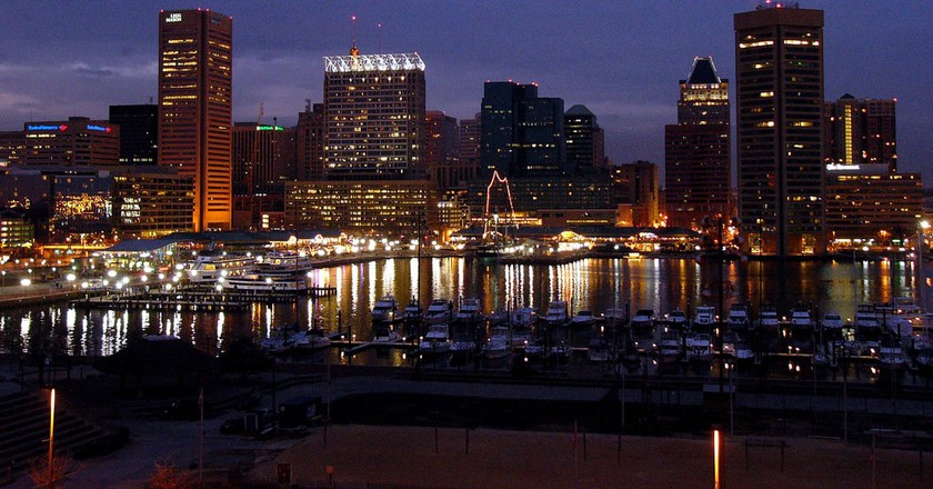 View of Baltimore Inner Harbor from Federal Hill