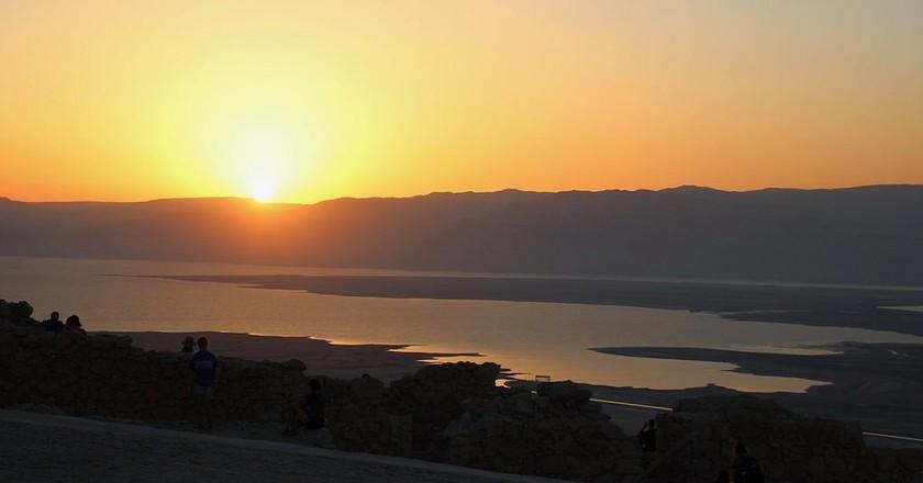 Sunrise from the top of Masada, Israel | © Subherwal / Flickr