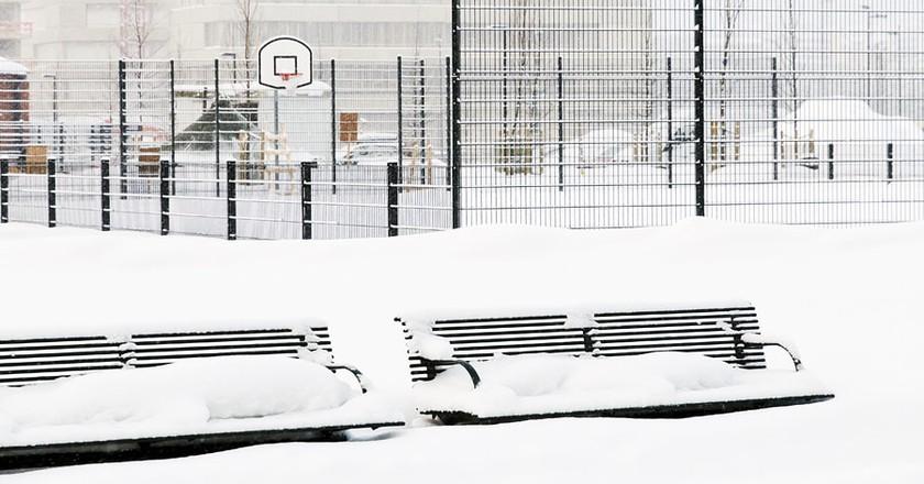 Frozen basketball court / Photopin