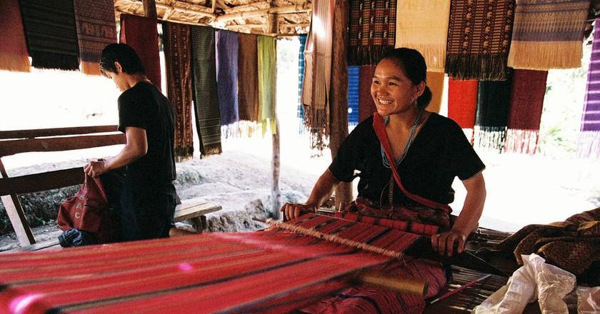 Thai weaver | ©Filipe Fortes/Flickr