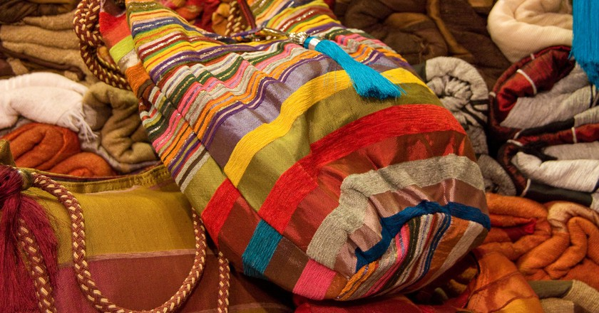 Colourful bags and accessories for sale in Morocco   © Martin and Kathy Dady / Flickr