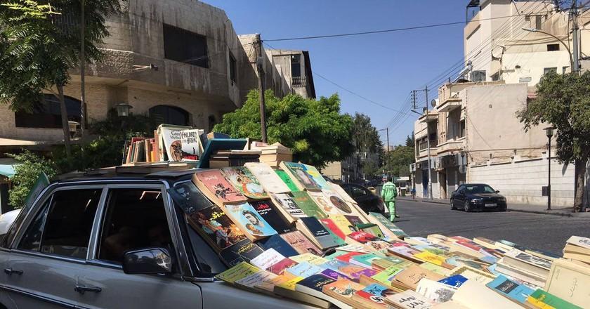 Books on the Road in Amman  © Gaith Bahdoosheh
