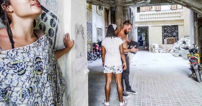 Renovation efforts inside a 100 year old building in Havana | © Amber C. Snider