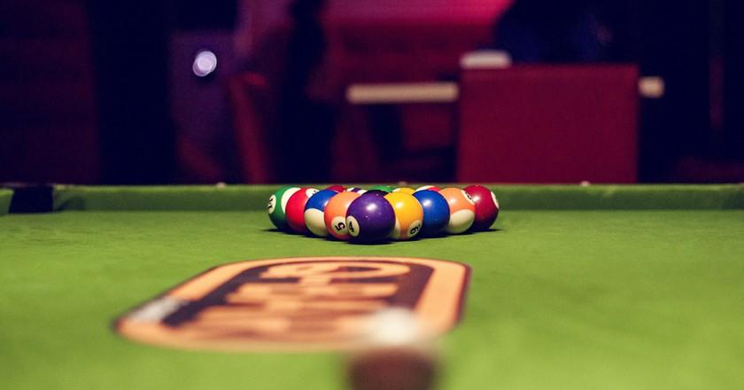 Pool table at Q-Bar |Courtesy of Q-Bar