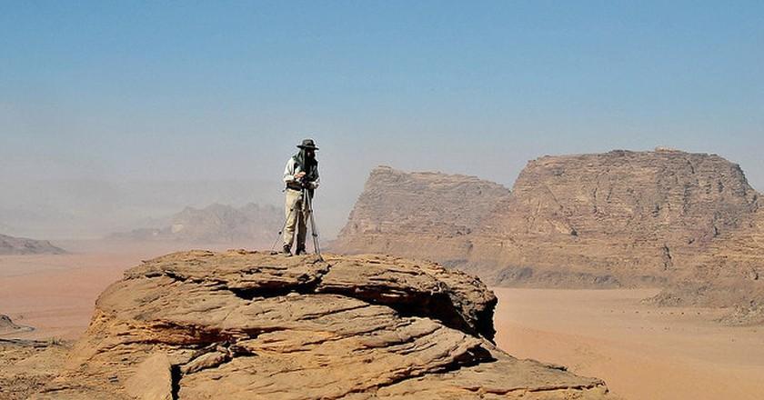 Hiking in Wadi Rum desert   © HikinginJordan/Flickr