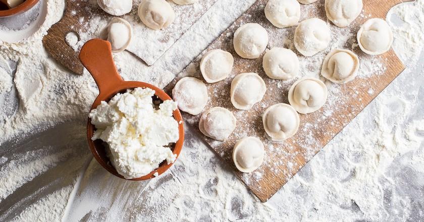 Making pelmeni | Courtesy of Saratov Restaurant