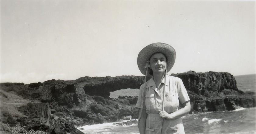 Harold Stein, Georgia O'Keeffe in Hawaii, 1939 (detail). Gift of The Georgia O'Keeffe Foundation, Georgia O'Keeffe Museum, Santa Fe, NM, USA.