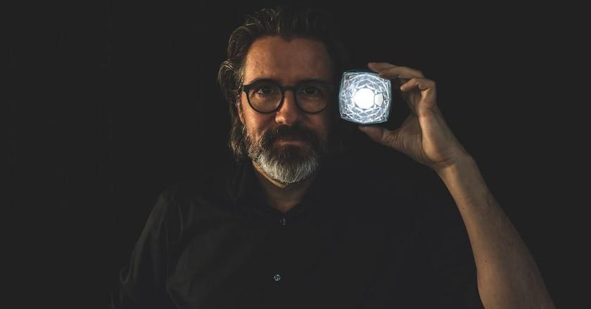 "Olafur Eliasson with the ""Little Sun Diamond"" | Courtesy of Studio Olafur Eliasson"